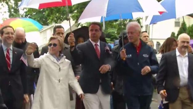 Clintons, Cuomo at Memorial Day Parade in Chappaqua