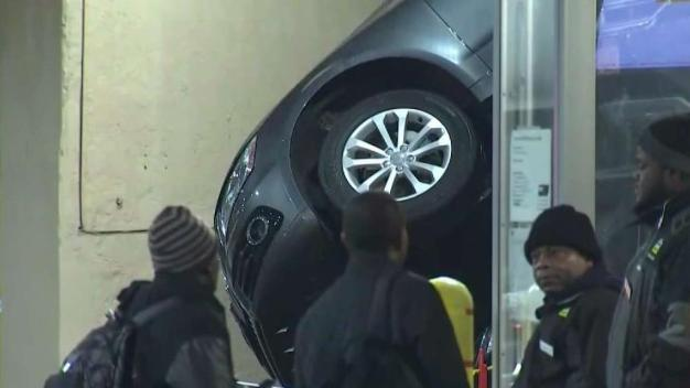 SUV Crashes Down on Another Car in NYC Mechanical Lift Fail