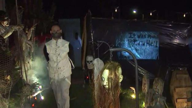 Scariest House in Westchester Raises Money for Food Pantry