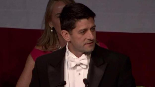 Speaker Ryan Roasts Politicians at Al Smith Dinner