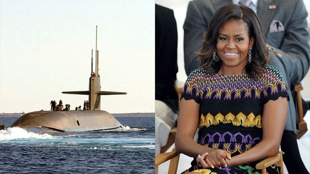 Navy Gets $2.7B Submarine Sponsored by Michelle Obama