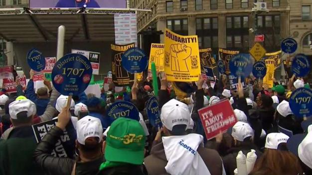Thousands at NYC Rally: SCOTUS Decision Will Threaten Unions