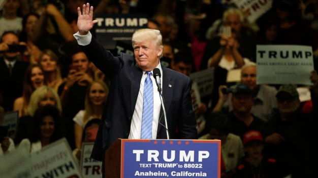 Trump Holds Rally in Fresno, Calif.