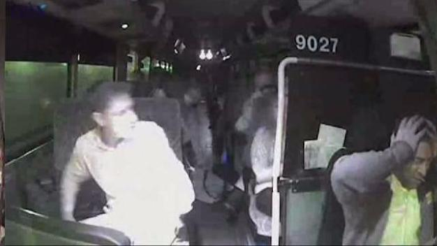 Video Surfaces From Bus Collision in Lincoln Tunnel