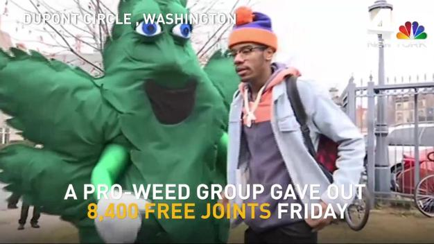 Pro-Weed Group Hands Out 8,400 Joints During Trump Inauguration