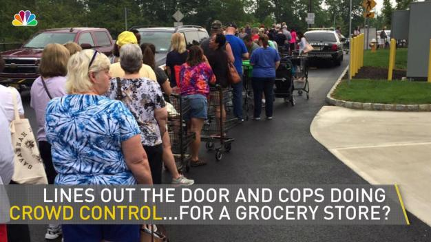 New Wegmans Opens, Crowd Control Needed