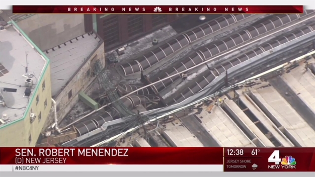 Sen. Robert Menendez Reacts to Hoboken Terminal Crash