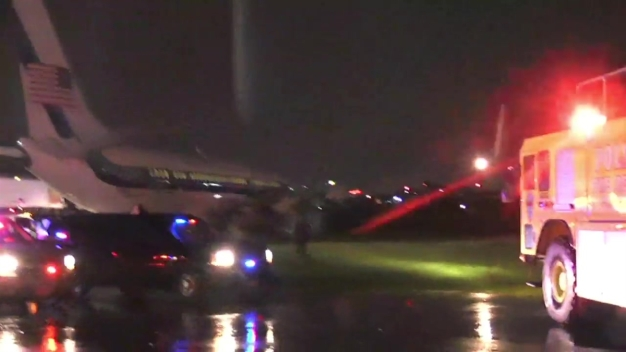 VP Candidate Mike Pence's Campaign Plane Slides off Runway at LaGuardia