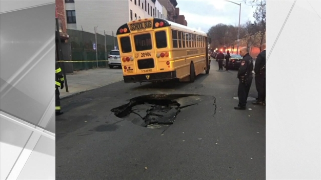 Crews Work to Repair Giant Sinkhole in Brooklyn