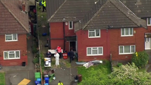 Raw Footage: Police Raid House in Manchester