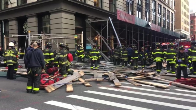 Scaffolding Collapses in SoHo, Injuring 5 People: Officials