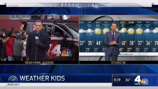 Weather Kids at PS 206 Horace Harding School