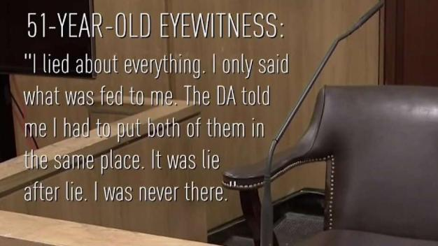 Witnesses Admit They Lied in 1987 Murder Case