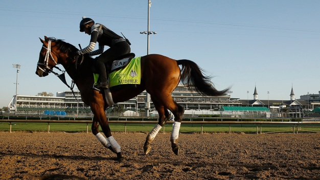 Justify Won't Have Audible to Kick Around in Belmont Stakes