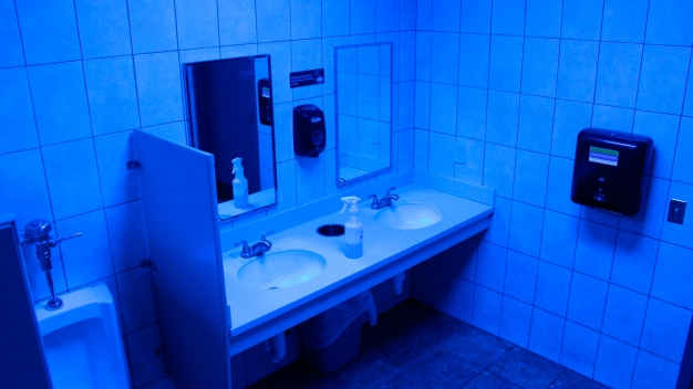 Store Owners Try Blue Lights in Bathrooms to Deter Drug Use