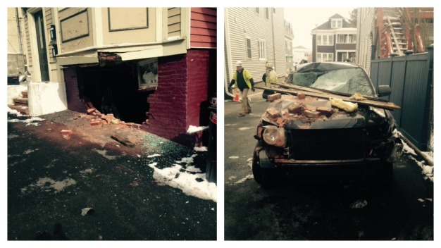 Former Boston Mayor Hits Building With Car