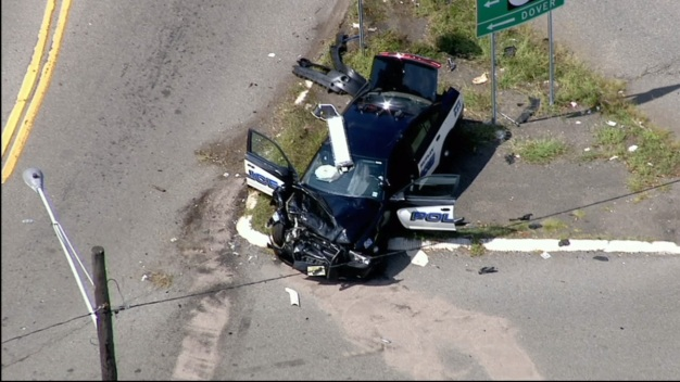 Police Cruiser Involved in Crash in New Jersey