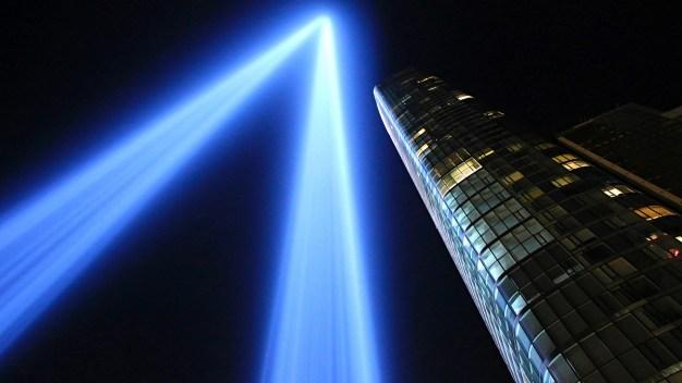 Tribute in Light Illuminates NYC Skyline