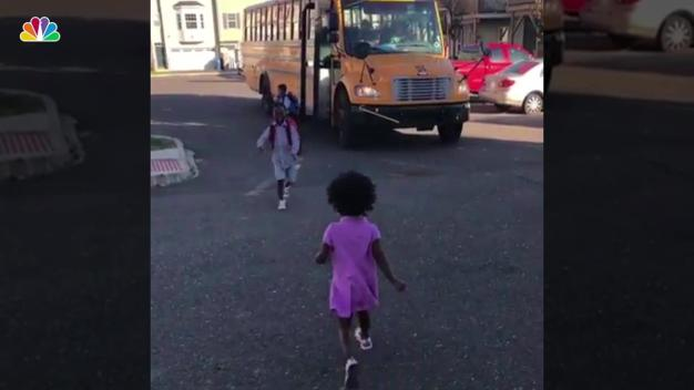 Heartwarming Moment Brother Sees Little Sister After School