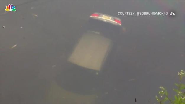 Car Submerged, Major Flooding across NY, NJ