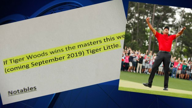 Texas Man Wins Bet to Name Son Tiger Thanks to Masters Win
