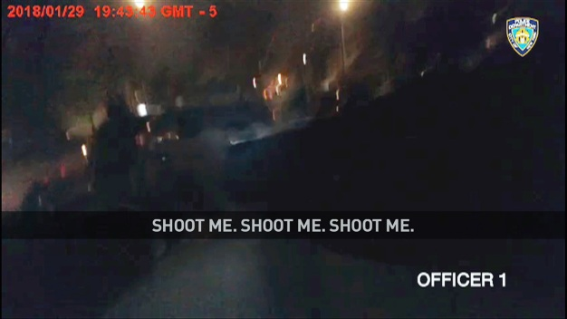 NYPD Bodycam Vid Shows Man Say 'Shoot Me' Before Being Shot