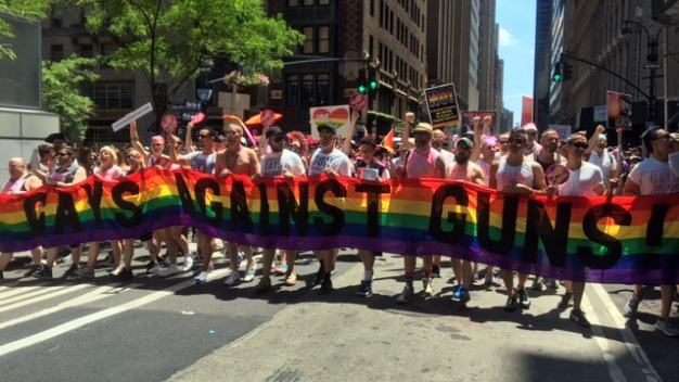 Pride Parade Marches Through NYC Streets