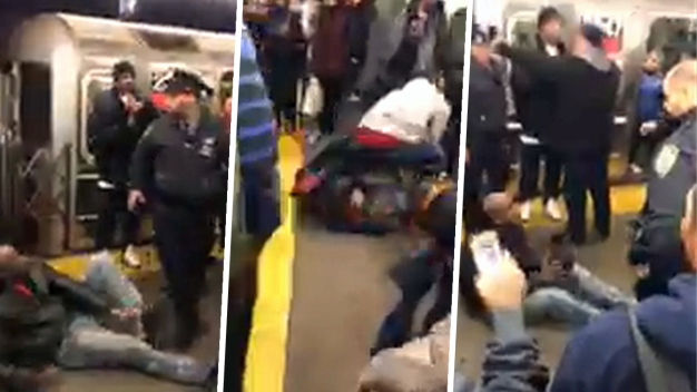 Straphangers Beat Up Man Who Attacked Mom on Subway Platform