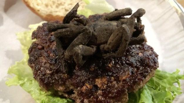 N. Carolina Reporter Takes on Tarantula Burger Challenge
