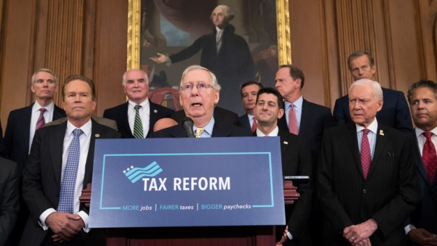 GOP Tax Plan Trims Top Rate for Wealthy, Cuts Corporate Rate