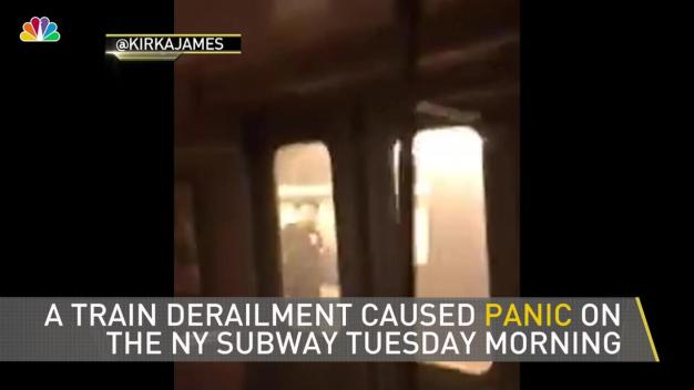 Panic as Derailment Throws NY Commuters Into Darkness