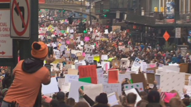 Hundreds of Thousands Join Women's March in NYC