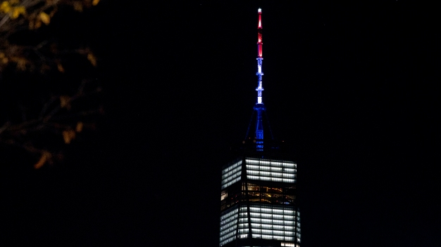 1 WTC Goes Red, White & Blue After Port Authority Bombing
