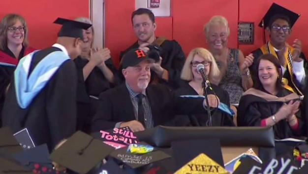 Billy Joel Speaks at High School Graduation