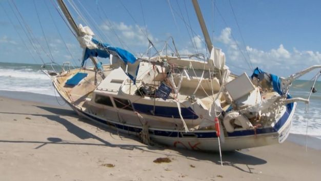 Mysterious 'Ghost Ship' Washes Ashore After Irma