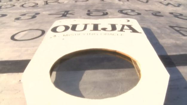 Gigantic Ouija Board Tops Roof of 'Haunted' Hotel