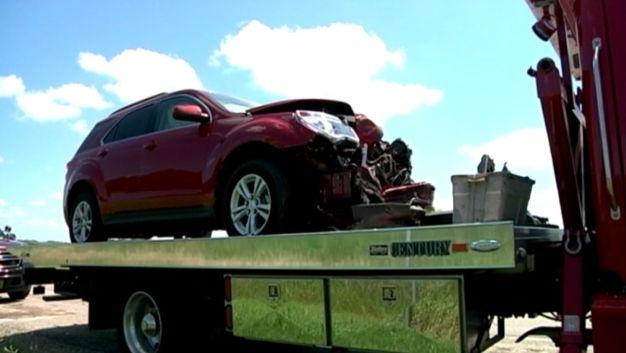 Runaway Tire Triggers Terrifying Highway Crash