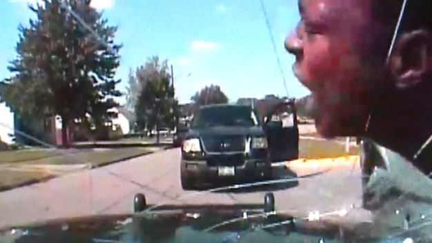 Cop Cracks Windshield With Suspect's Face