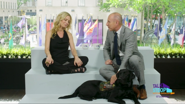 Matt Lauer Brings Today's Dog With a Purpose Charlie to the Stoop
