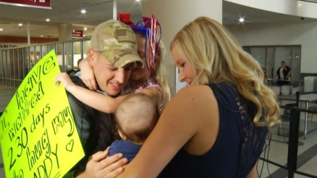Returning Marine Meets Son for First Time