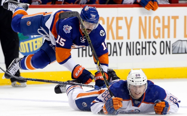 Okposo's Hat Trick Powers Islanders Past Oilers 8-1
