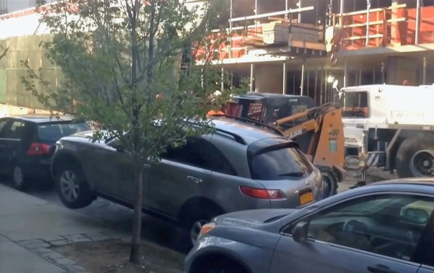 Forklift Moved Parked SUV, Owner Says