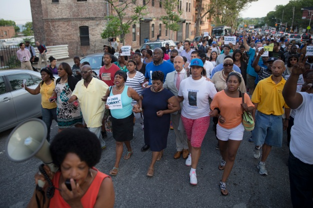 Vigil, March for Eric Garner, Who Died in Police Custody