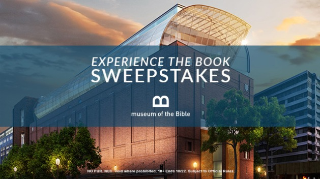 Experience The Book Sweepstakes 2017