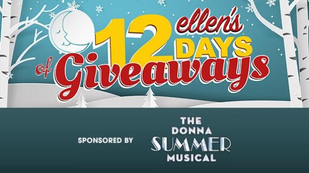 Ellen Degeneres's 12 Days of Giveaways Sweepstakes