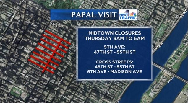 Papal Visit: NYC Traffic Changes