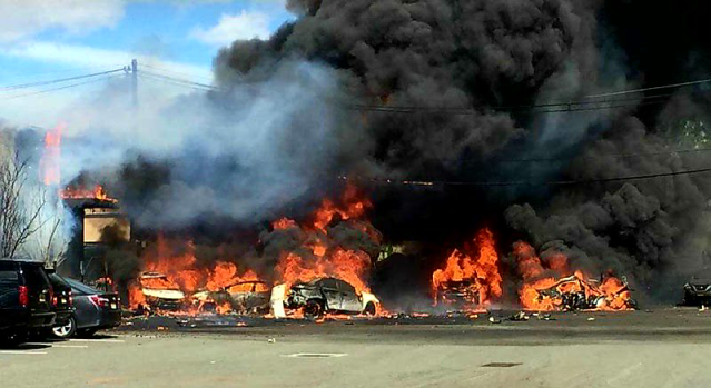 Dramatic Images: Plane Crashes Near Teterboro Airport
