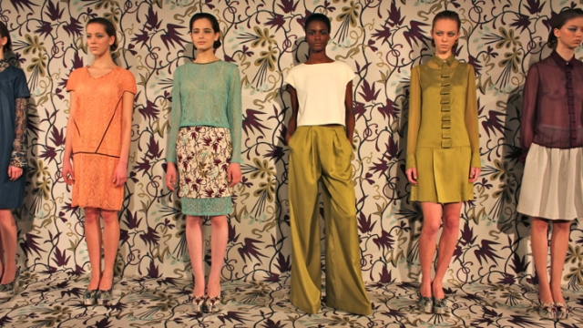 NAHM Designers Offer Pastel Lace Suits, Egyptian Print Dresses For Fall