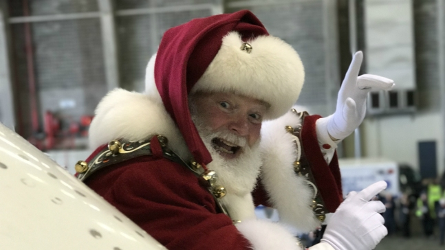 Santa Claus Visits 4,000 Special Needs Students in NYC