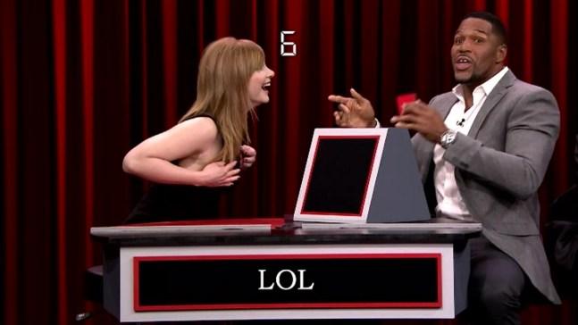 'Tonight Show': Pyramid With Strahan, Dallas Howard